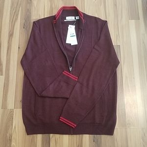 Mens large maroon zip up sweater